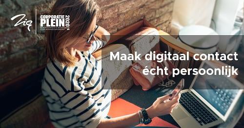 CorporatiePlein 2020: Maak digitaal contact écht persoonlijk